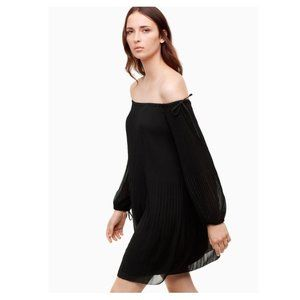 Wilfred Aritizia BNWT sz XS Dress Black pleated